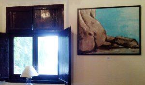 M.Moreno (+Nus) al saló Alfonsín del restaurant Masia Can Ametller