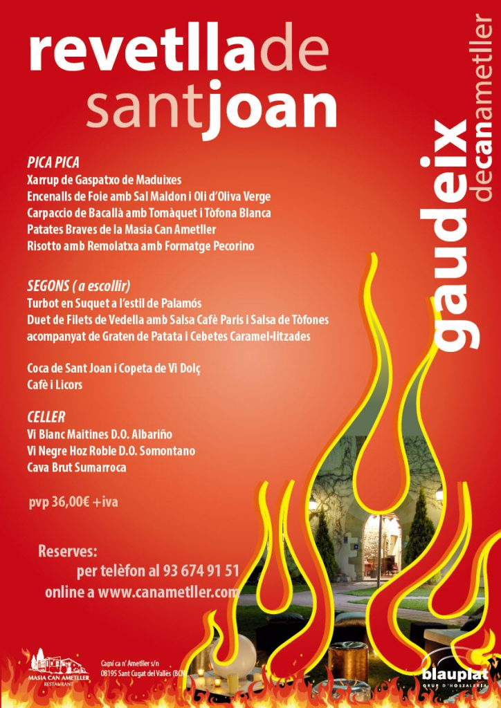 Revetlla Sant Joan al restaurant Can Ametller